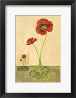 Framed Entwined Poppies