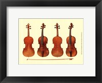 Framed Antique Violins I