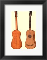 Framed Antique Guitars I