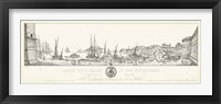 Framed Antique Seaport II