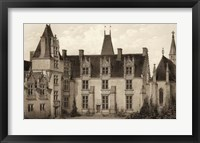 Framed Sepia Chateaux I