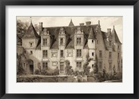 Framed Sepia Chateaux III