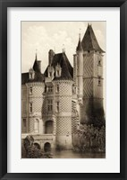 Framed Sepia Chateaux VII