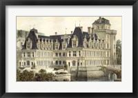 Framed French Chateaux V