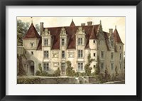 Framed French Chateaux VI