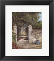 Framed Tranquil Garden I