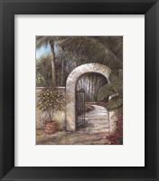 Tranquil Garden II Framed Print