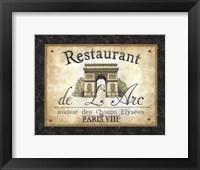 Restaurant de l'Arc Framed Print