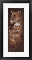 Serengeti Twins Framed Print