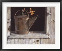 Favorite Watering Can Framed Print