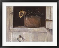 Sunflower and Copper Framed Print