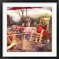 Patio Chaise Framed Print