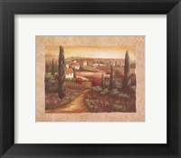 Framed Tuscan Sunset I