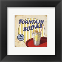 Fountain Sodas Framed Print