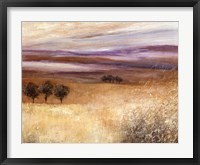Framed Heather Landscape I