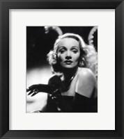 Framed Marlene Dietrich - Black and white