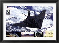 Framed Airplane F-117 Nighthawk