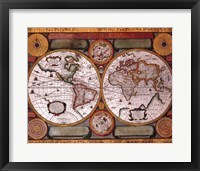 Framed Map - Terre Universelle