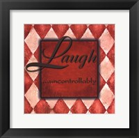 Framed WTLB, Harlequin Orange.Laugh uncontrollably