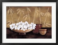 Framed Still life and white bloom I