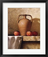 Olive Oil Jug with Persimmons Framed Print