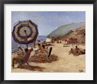 A Day on the Beach I Framed Print