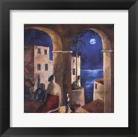 Mirando la Luna Framed Print