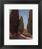 Framed Cypress Trees I