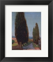 Framed Cypress Trees II