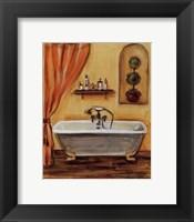 Framed Tuscan Bath I