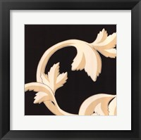 Damask V Framed Print