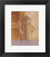 Tan Teapot Framed Print