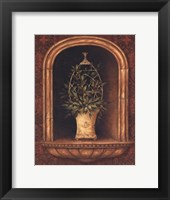 Olive Topiary Niches I - special Framed Print