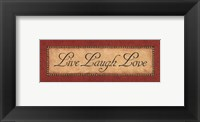 Framed Red Damask II- Petite