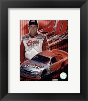 Framed 2005 Sterling Marlin collage- car, number, driver and signature