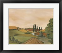 Framed Sunny Tuscan Road