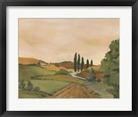 Framed Sunny Tuscan Road
