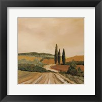 Framed Shady Tuscan Fields