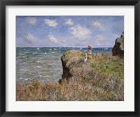 Framed Cliff Walk at Pourville, c.1882