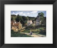 Framed L'Hermitage at Pontoise, c. 1867