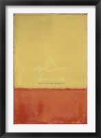 Framed Ochre (Ochre, Red on Red), 1954