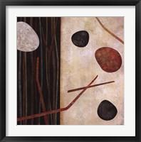 Sticks and Stones I Framed Print