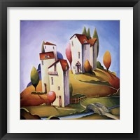 Bridge to the Village Framed Print