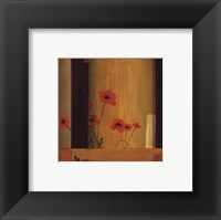 Poppy Tile II Framed Print