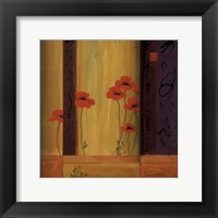 Poppy Tile I Framed Print