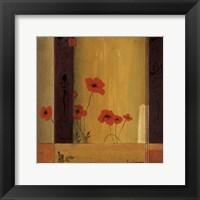 Poppy Tile II Framed Print