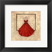 Take Me Dancing II (red) Framed Print