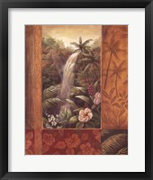 Framed Tropical Waterfall II