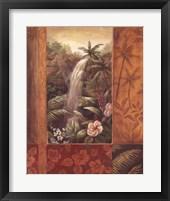 Framed Tropical Waterfall II