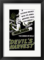 Framed Devil S Harvest